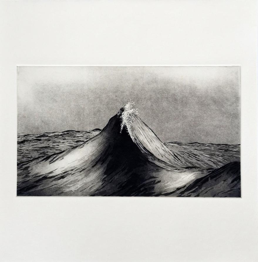 Print Etching Wave Art